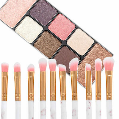 10 PCS Eyeshadow Make up Brushes Eyebrow Eyeliner Brushes Eye Lip Brusher Tool 4
