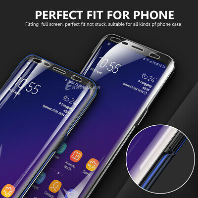 HYDROGEL Screen Protector Samsung Galaxy S10 5G S9 S8 Plus Note 10+ 8 9 S7 Edge 8