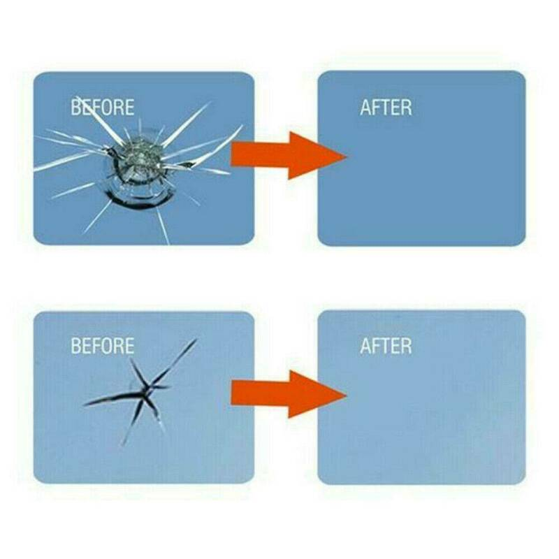 Car Automotive Glass Nano Repair Fluid Kit Window Glass Crack Chip Repair Tools 10