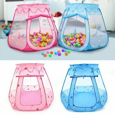 Pink Starry Pop Up Fun Play Tent Playhouse For Girls Kids Baby Children Ball Pit 3