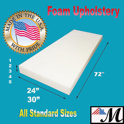 High Density Upholstery Seat Foam Cushion Replacement Per Sheet Standard Sizes 2