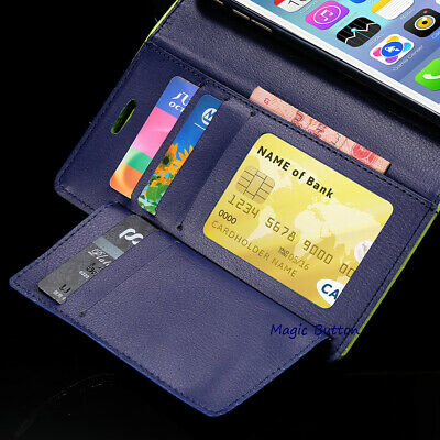 For iPhone X XR XS MAX Leather Wallet Case Magnetic Flip Card Shockproof Cover 3