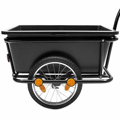 Lastenanhänger Fahrrad Handwagen Fahrradanhänger Transportbox 50kg Kugelkupplung
