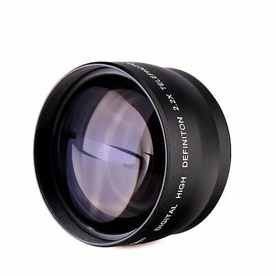 58MM 2x Telephoto Zoom Lens for Canon Rebel EOS T3 XT XTI XS XSI T6 300D 400D 2