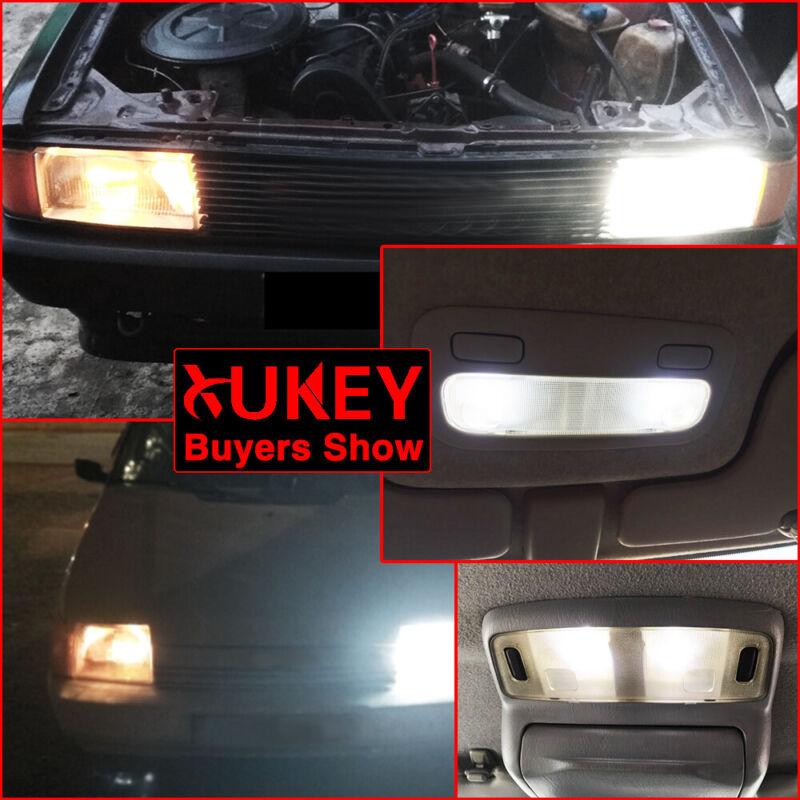 2Pcs T11 BA9 BA9S T4W 233 1895 H6W Xenon White Auto 7 LED Side Lamp Bulb