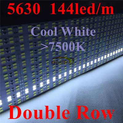 Embedded Aluminum Shell PC Cover Dual Row 5630 Led Strip Bar Light 12V 1M 0.5M 10