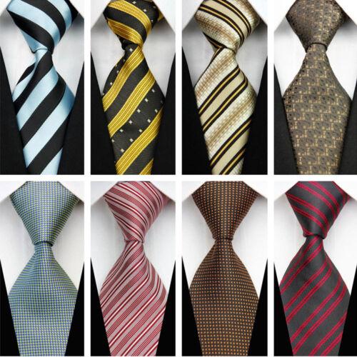 Blue Grey Black Red White Purple Wedding Stripe Plaid Dots Necktie Silk Mens Tie 4