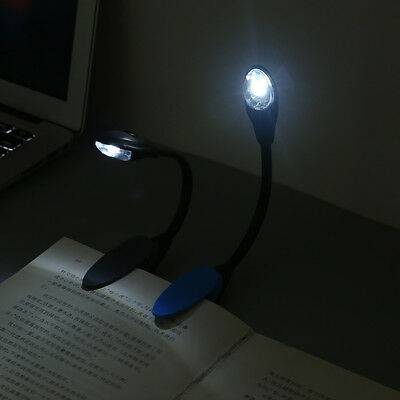 NEW Fine Convenient Portable Travel Book Reading Light Lamp LED Clip Booklight 7