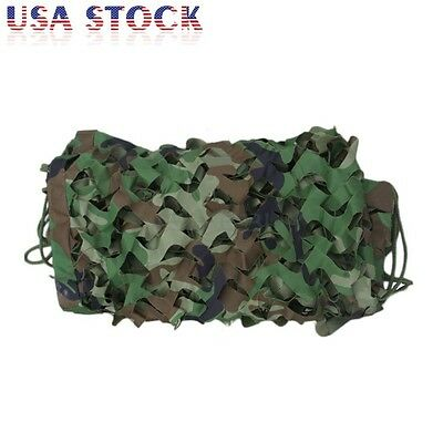 Woodland Camouflage Netting Military Army Camo Hunting Shooting Hide Cover Net 3