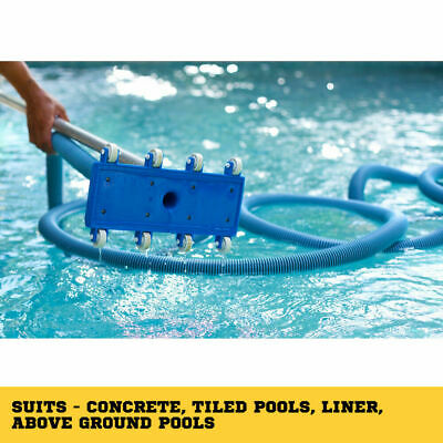 Flexible Vacuum Head Pool Spa Vac Wheels Flexible Frame Heavy Duty 11