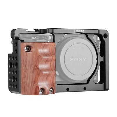 SmallRig Cage with Wooden Handgrip for Sony A6000/A6300 Ergonomic Hand Grip NEX7