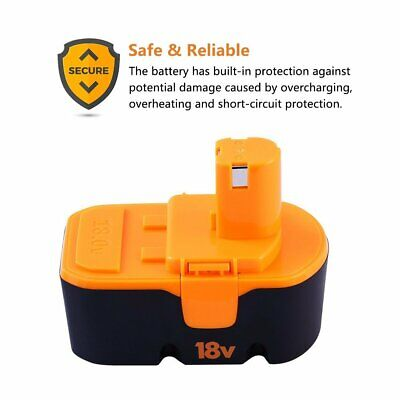 18v 3.0Ah Replace for Ryobi Battery ONE+ P100 P101 1322401 1400672 13022 ABP1801 6