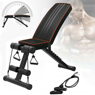 Adjustable Fitness Weight Bench Multi Gym Dumbbell Folding Flat Incline Decline 7