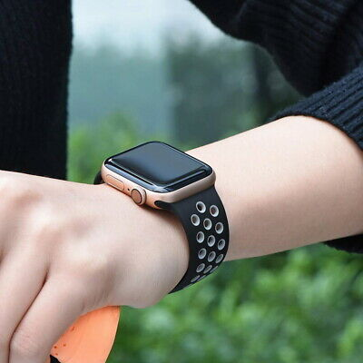 Sport Silicone Strap iWatch Band for Apple Watch Series 5 4 3 2 1 38mm 42 40 44 2