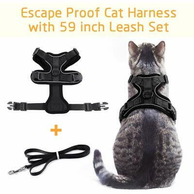 Rabbitgoo Cat Harness Reflective Walking Jacket Adjustable with 59 Inches Leash 3