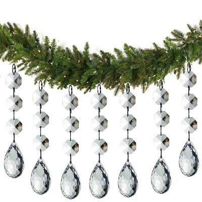 30 Christmas Clear Acrylic Crystal Glass Ball Ornaments Holiday Craft Decoration 3