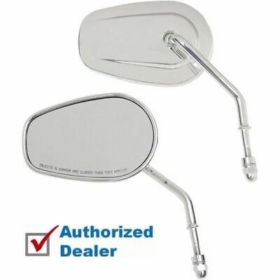 "Drag Specialties One Chrome Teardrop Mirror With Curved 3 1//2/"" Stem Harley Each"