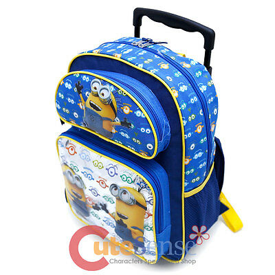 "Despicable Me Minions 16/"" School Backpack Lunch Bag 2pc Set Eyes"