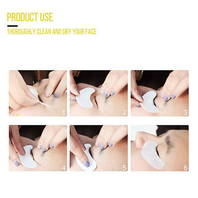 400 Pairs Under Eye Curve Eyelash Pads Gel Patch Lint Free Lash Extension Beauty 4