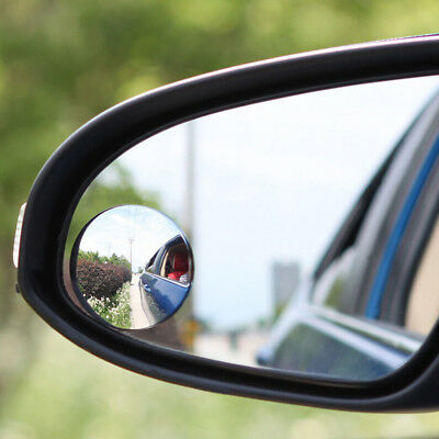2 Car Rearview Blind Spot Wide Angle Adjustable Rimless Mirror Rear View Convex