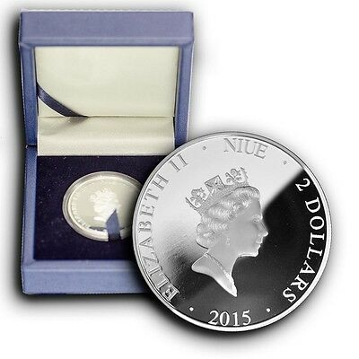 2015 Washington Monument NIUE 1 oz Proof Silver Coin With Box & COA, 5000 Minted
