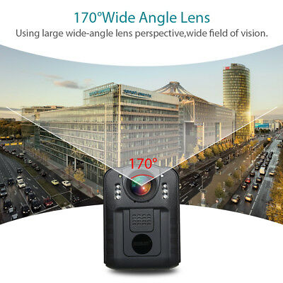 Boblov 32GB Police Body Worn Camera DVR HD 1296P IR Night Vision 170° Waterproof 3