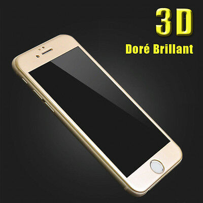 iPhone 6S/6/7/Plus 8/X VITRE EN VERRE TREMPE 3D Film Protection Ecran Intégral 10