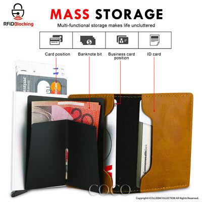 RFID Blocking Leather Credit Card Holder Case Money cash Wallet Clip Purse OZ 2
