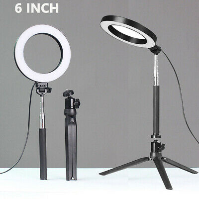 Ring Light LED Studio Photo Video Dimmable Lamp With Tripod Stand Selfie Stick 2