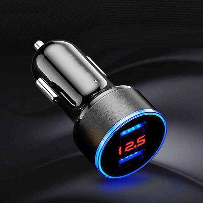 Dual Ports 3.1A USB Car Cigarette Charger Lighter Digital LED Voltmeter 12V/24V 10