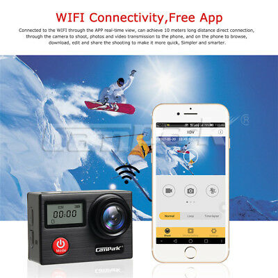 Campark X20 Action Sport Kamera Touchscreen WiFi HD 4K 20MP Wasserdicht Dual LCD 7