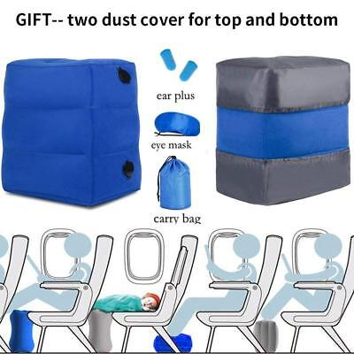 Plane Train Travel Inflatable Foot Rest Portable Pad Footrest Pillow Kid Bed Pad 10