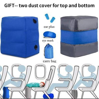 Portable Travel Foot Rest Hammock Flight Carry-on Leg Pillows Footrest Pat Bed 9