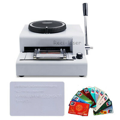 72 Letter Manual Embossing Stamping Machine magnetic ID PVC Card Embosser 2