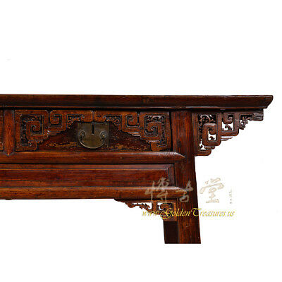 Chinese Antique Carved Zhejiang Writing Desk/Console Table 17LP12 5