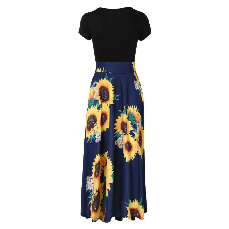 Women Summer Boho Long Maxi Dress Evening Cocktail Party Beach Dresses Sundress 11
