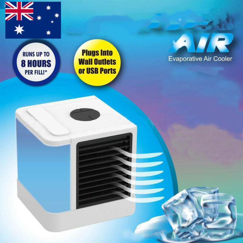 Mini Small Fan Cooling USB Rechargeable Air Conditioner Portable Cooler Desktop 2