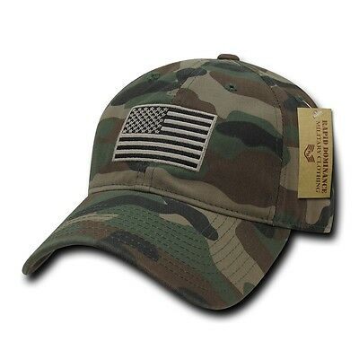 3b8a1717c3d54 ... Camo USA US American Flag Patch United States America Polo Baseball Hat  Cap 2