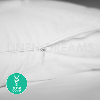 2x / 4x / 8x Natural Cotton Cover Pillow Protector Zip Closure Standard Case 2