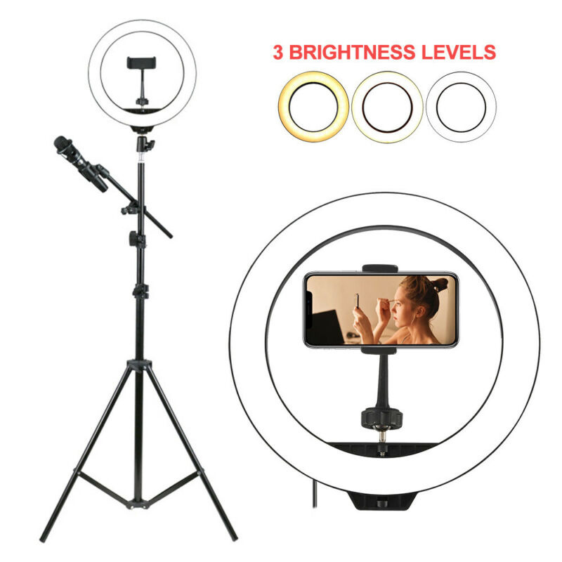 Studio 160 LED Ring Light con supporto Dimmable Photo lampada video fotocamer 3