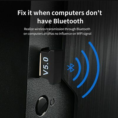 USB 5.0 Bluetooth Adapter Wireless Dongle High Speed CSR for PC Windows Computer 5