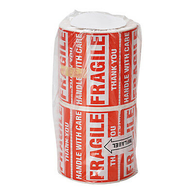 2 Rolls 500/Roll 2x3 Fragile Stickers Handle with Care Thank You Mailing Labels 5