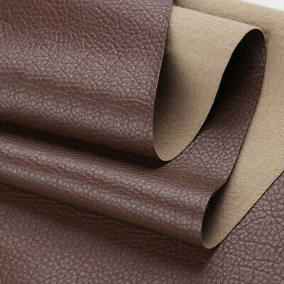 """Vinyl Faux Leather Fabric Litchi Pleather Upholstery Fabric 54"""" Wide By the Yard 8"""