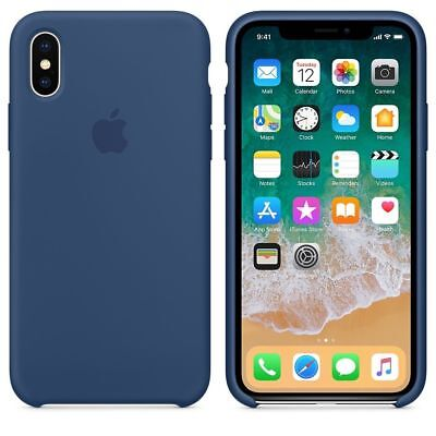 Original Silicone Leather Case For iPhone XR XS Max 6 7 8 Plus Genuine OEM Cover 10