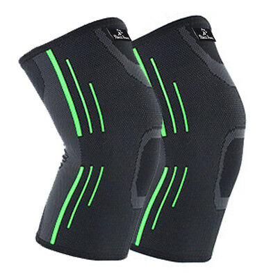 2X Knee Compression Sleeve for Arthritis Joint Pain Relief Workout Sport Braces 11