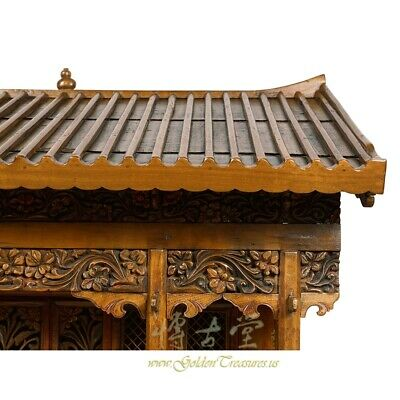 19 Century Antique Chinese Wooden Carved Altar/Buddha House/Shrine 5
