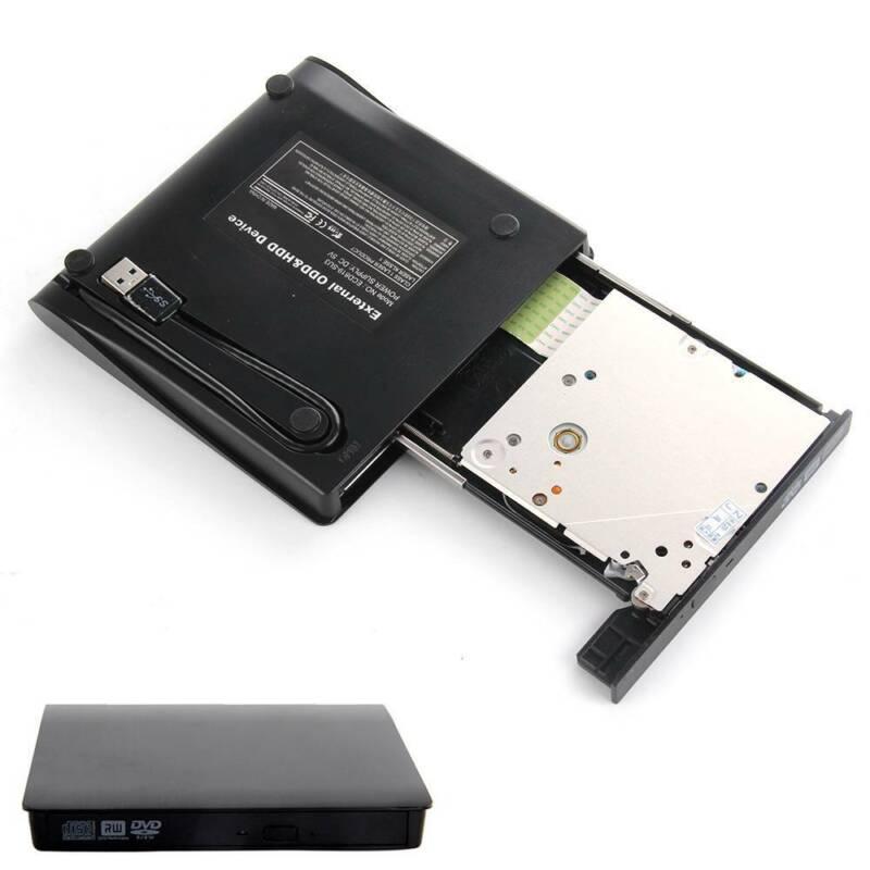 Slim USB 2.0 External CD-RW DVD ROM Drive Writer Reader Burner For Laptop PC UK 4