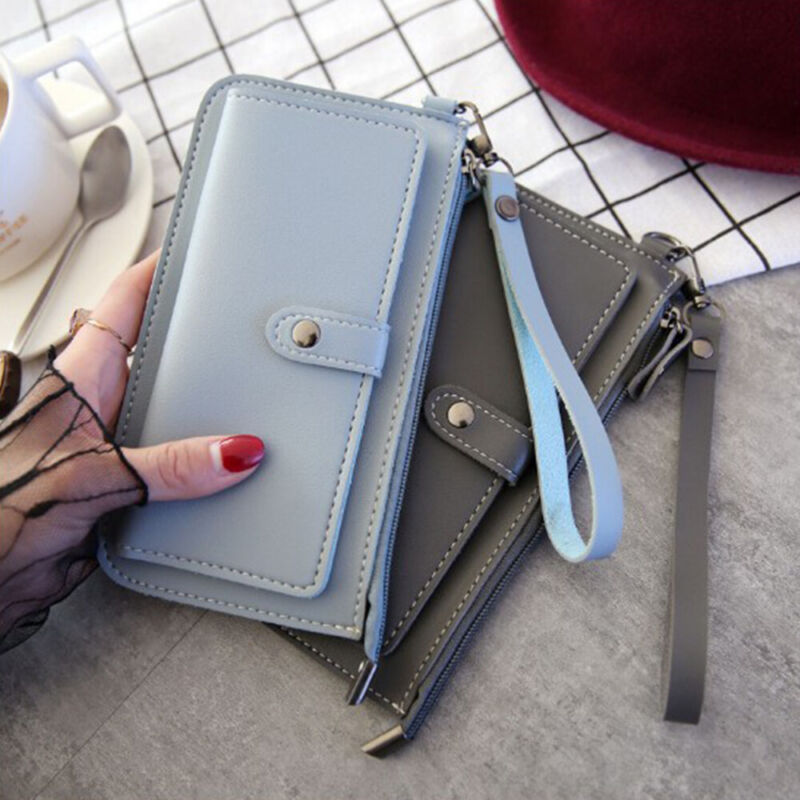Women Clutch Leather Wallet Long Card Holder Phone Bag Case Purse lady Handbags_ 4