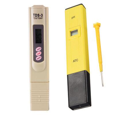 Digital Electric TDS/PH Meter Tester Plastic Hydroponics Water Test Pen/Paper 12