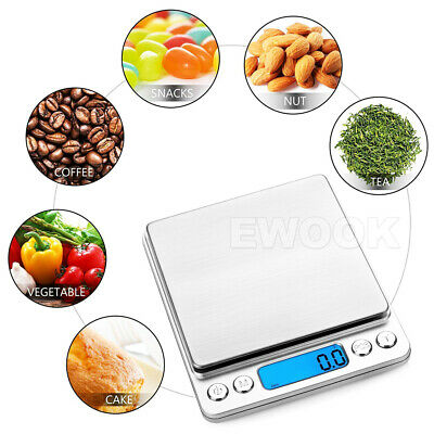 0.01G-500G Electronic Mini Digital Pocket Jewelry Gold Weighing Kitchen Scales 8